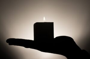 candle hand meditation