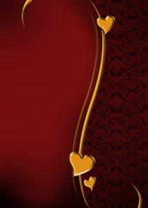 hearts curve metal