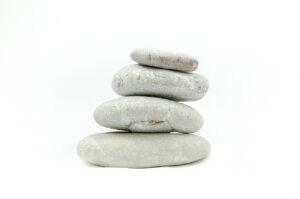 white stones on white balance